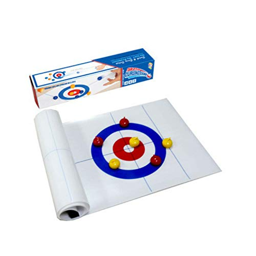 Tabletop Curling Game Portable Shuffleboard Sport Board Games for Kids & Family