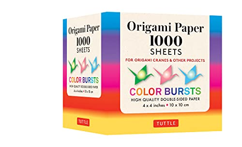 Origami Paper Color Bursts 1,000 Sheets 4 (10 CM): Tuttle Origami Paper: High-Quality Double-Sided Origami Sheets Printed with 12 Different Designs (Instructions Included)