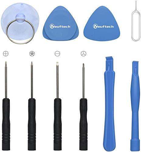Neuftech 10-en-1 Kit de Herramientas para Desmontar reparación el teléfono móvil/iPhone 5 5S 6 6 Plus 7S 8 8S X XS XR iPod