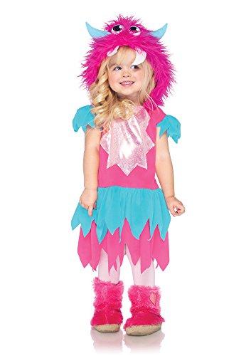 LEG AVENUE C28173 - Sweetheart Monster Kinderkostüm, 2-teilig, Größe: 98-116, blau/pink