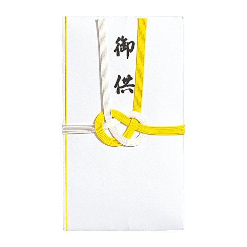 マルアイ 不祝儀袋 仏金封 黄白7本多当折 御供X20P