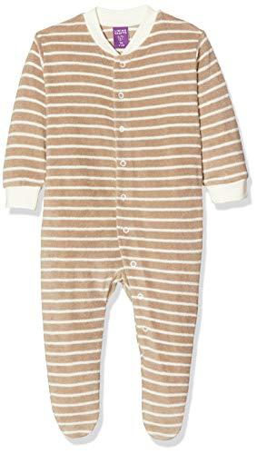 Living Crafts Baby/Kinder Frottee-Schlafanzug Bio-Baumwolle Alpaca/Natur Striped 68