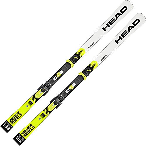 HEAD - Pack Ski WC Rebels I.Speed + Fixations FF Evo 14 - Homme - Taille 185 - Blanc