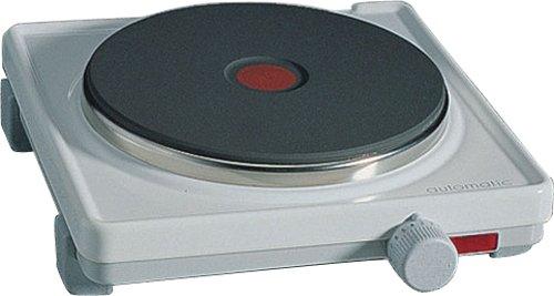 ROMMELSBACHER Automatik Einzelkochplatte AK 2080 - Gehäuse feueremailliert, weiß, Gussheizplatte 180 mm - 2000 Watt