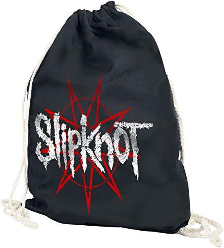 Slipknot Star Logo Unisex Turnbeutel schwarz 100% Baumwolle Band-Merch, Bands
