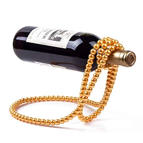 Aiglen Estante para Vino, Perla de Metal mágica 3D Estante para Whisky Soporte para Vino de Acero Inoxidable Soporte para decoración del hogar Barras Accesorios Decoración de Mesa (Color : Golden)