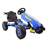 Kinder Go-Kart Formula Speed Cart Blue Racer Tretauto Gokart ab 3 Jahren Luftreifen