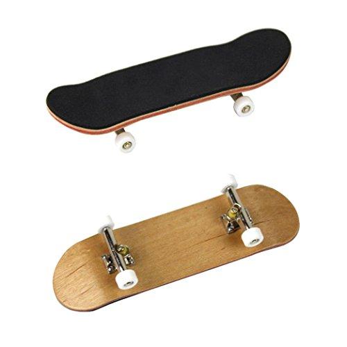 AmaMary Patineta de Dedo, Mini Diapasón de Madera de Arce Fingerboard Skate Adultos niños Juguete Gran Regalo (Blanco)