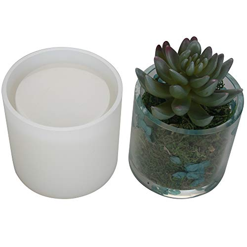 "Big DIY Cylinder Resin Plant Mold, Internal Diameter 2.95"", Internal Depth 2.95"", Cylinder Silicone Molds, DIY Flower Pot Molds, Planter Pot Mold, Pen Holder molds"