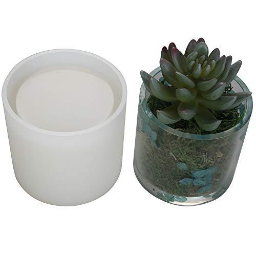 Big DIY Cylinder Resin Plant Mold, Internal Diameter 2.95', Internal Depth 2.95', Cylinder Silicone Molds, DIY Flower Pot Molds, Planter Pot Mold, Pen Holder molds