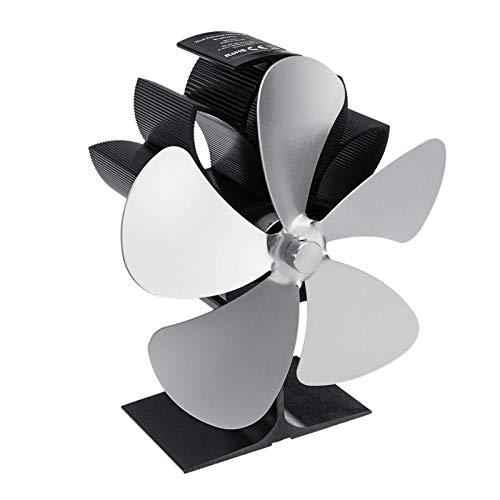 Estufa Ventilador, Ventilador de invierno Chimenea 5 cuchillas estufa de calor del ventilador accionado registro de madera quemador Ecofan Quiet Home Chimenea eficaz ventilador de distribución de calo