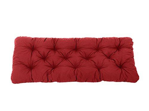 Ambientehome 2er Sitzkissen Bank Evje, rot, ca 120 x 50 x 8 cm, Polsterauflage, Bankauflage