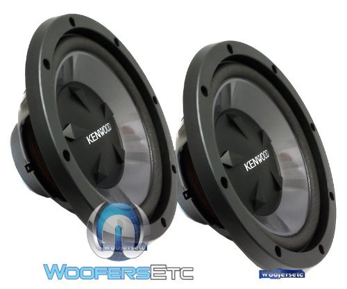Pair of KFC-W112S - Kenwood 12' 200W RMS 800W Max Each Single 8-Ohm Performance 1600W Max Combined Subwoofers