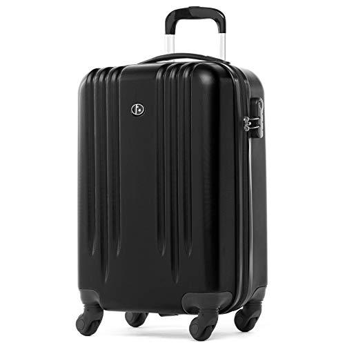 FERGÉ Handbagage Koffer Marseille premium harde spinner premium bagage-koffer zwart