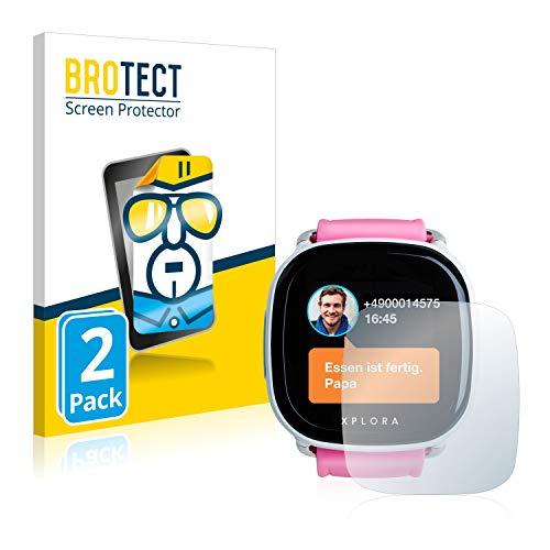 BROTECT Schutzfolie kompatibel mit Xplora Go Kids (2 Stück) klare Bildschirmschutz-Folie