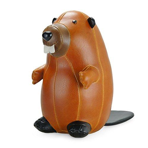 beaver animal bookend by zuny