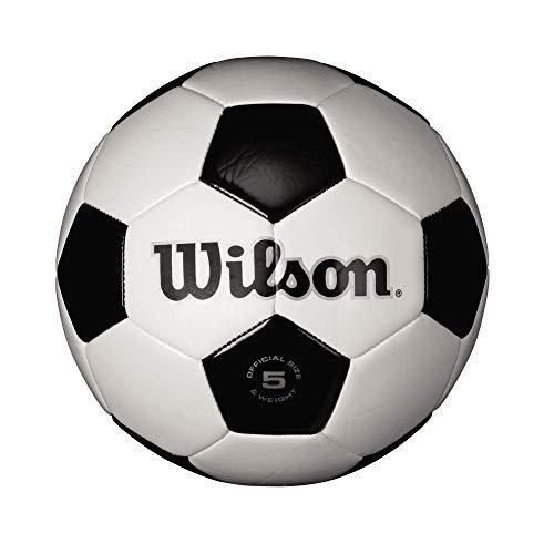 Wilson Bola de futebol tradicional - Branco/Preto, tamanho 9