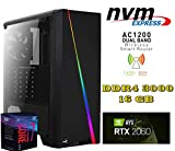 PC FISSO Gaming AGM Intel i7-9700f | SCHEDA MADRE Z390 | Nvidia RTX2060 6GB | SSD M.2 NVME 500GB | HD 1TB  | 16GB DDR4 3000 | 700WATT 80plus cert. | WI-FI AC1200 | WINDOWS 10