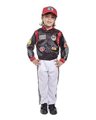 Dress Up America 507-M Rennfahrer Kostüm Kinder-Rennwagenfahrer, Größe 8-10 Jahre (Taille: 76-82 Höhe: 114-127 cm)