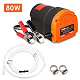 THINKWORK Oil Change Pump Extractor, 12v 80w Marine Oil Change Pump and Electric Oil Pump, Great Choice for Oil Changes in Car, Ship, Truck, Motorcycle