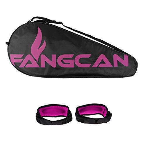 Toygogo Schlägerhülle Tennis Tasche Tennistasche Schlägertasche mit Tennisarm Bandagen - Rosa