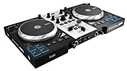 Hercules DJ Control Air + S Series (2 Deck DJ Controllers, XL Jogwheels, Air Control, 8 Pads, Integrated Sound Card, DJUCED 40 °, PC / Mac)