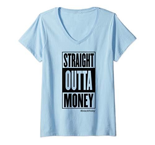 Mujer Compras navideñas directamente del dinero Regalo de Navidad Camiseta Cuello V