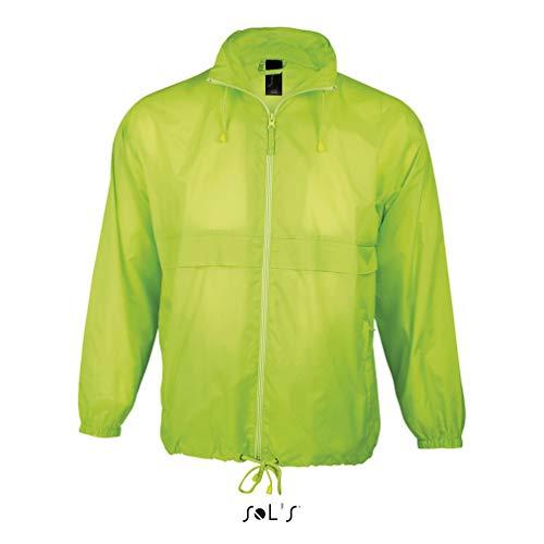 SOL´S Windbreaker Surf Neon Lime, Größe:XL