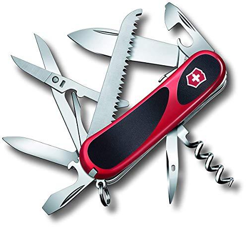 Victorinox Taschenmesser Evolution Grip S17 (15 Funktionen, Feststellklinge, Ergonomischer Griff) rot/schwarz B1