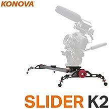 Konova Camera Slider Dolly K2 100cm (39.4 Inch) Track Aluminum Light Weight for Camera, Gopro, Mobile Phone, DSLR, Payloads up to 40lbs (18kg) with Bag