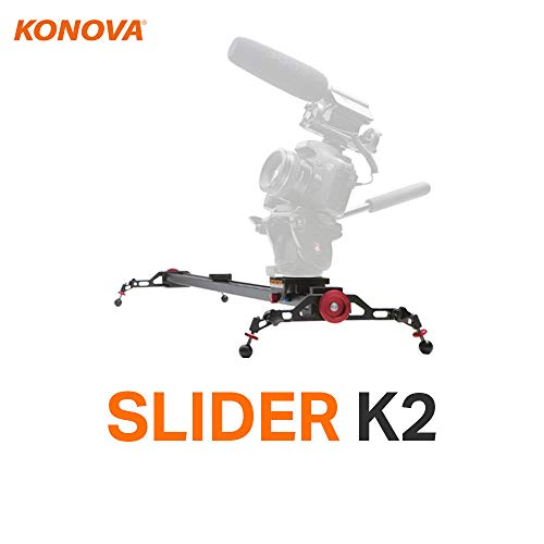 Konova Camera Slider Dolly K2 100cm (39.4 Inch) Track Aluminum Light Weight for Camera, Gopro, Mobile Phone, DSLR, Payloads up to 40lbs (18kg) with Bag