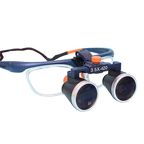 CCCYT Lupas Binoculares Quirúrgicas Dentales Profesionales para Dentistas, Gafas De Ajuste Bidireccional Médicas, Anteojos De Lupa Binocular,3.5X