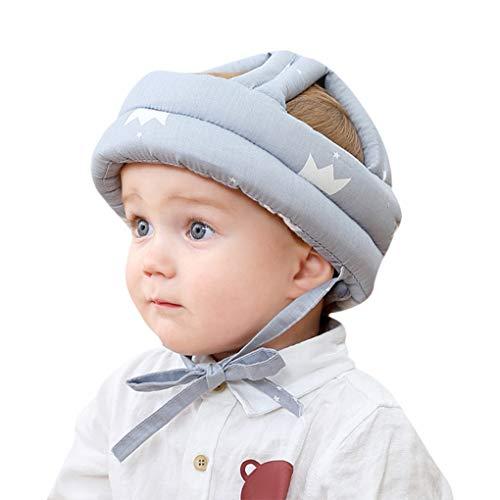 Baby Helm Schutzhelm Säugling Kleinkind Kinder Anti-Kollision Kopfschutzkappe Schutzhut Baumwolle Hut Kopfschutzmütze Verstellbarer Kopfschutz, 6 bis 60 Monate Baby