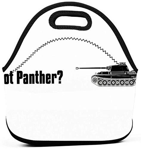 Got Panther - Militärgeschichte Visualisierte Männer Frauen Kinder Isolierte Lunchpaket Tote Mehrweg-Lunchpaket Für die Arbeit Picknick Schule
