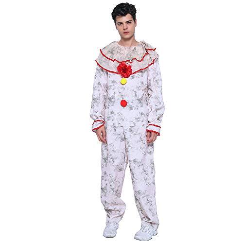 EraSpooky Herren Horror Mörder Clown Halloween Kostüm Killer Clownkostüm