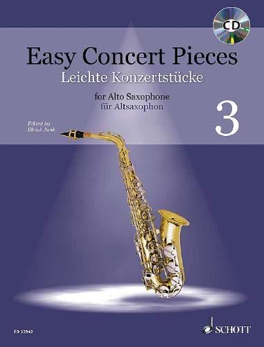 Leichte Konzertstücke: 17 Stücke aus 6 Jahrhunderten. Band 3. Alt-Saxophon und Klavier. (Easy Concert Pieces, Band 3, Band 3)