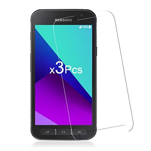 [3 Stück] Panzerglas für Samsung Galaxy Xcover 4 Schutzfolie, 9H Festigkeit Glas Folie Anti-Öl Bubble-frei [Ultra-dünn] [Anti-Kratzen] [Anti-Fingerabdruck] Bildschirmschutzfolie für Samsung Galaxy Xcover 4