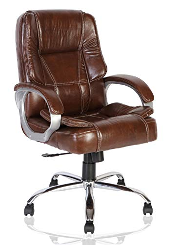 Green Soul Vienna Mid Back Leatherette Dynamic Chair (Brown)