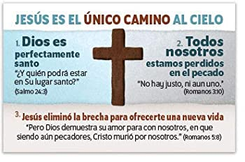 Jesus Is The One Way  Mini Gospel Tract Card Packet of 100 Spanish