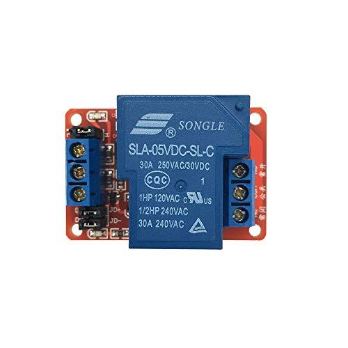 SunRobotics FC65 5V 30A 1-Channel Relay Module with Optocoupler H/L Level Trigger for Adruino Mega Nano Uno