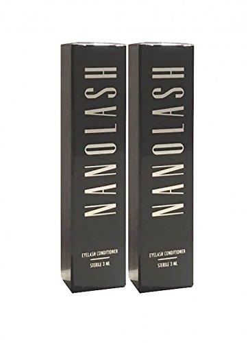 nanolash pestañas Serum 3ml, 2unidades, (2x 3ml)–Buena pestañas Serum para el crecimiento de la wimpern.(1616,67€/100ml)