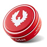 Atlas Matte Wax Pomade 2.4 Ounce is a Max Hold, Thickening, Texturizing, Defining, Conditioning, Styling and Grooming Wax Pomade for Men and Women. For All Hair Types