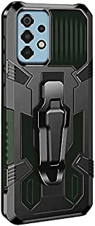Back Cover for For Samsung Galaxy A52S - A52 5G - A52 Case Heavy Duty (Black & Green)