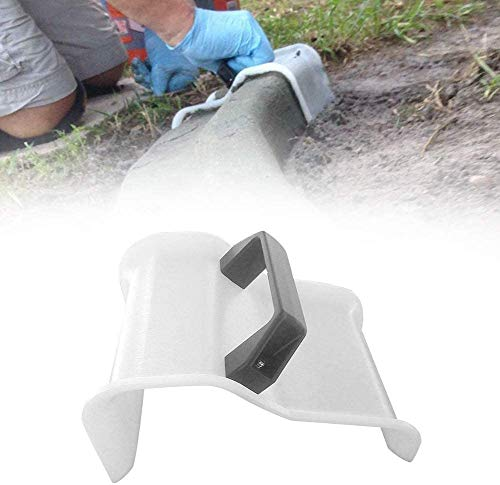 Concrete Trowel with Plastic Handle, Lawn Patio Grout Roads Concrete Making Mold, Concrete Finishing Trowel for Garden Yard Landscapes (White)