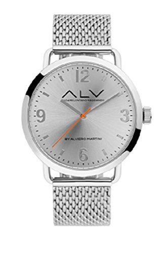 Orologio Alviero Martini ALV0069 silver maglia milano fondo silver numeri