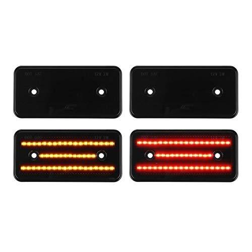 ROYAL STAR TY 4pcs / Set LED Marcador Lateral Pegatina de Luces se encienden Las lámparas de señalización for Mercedes W463 G-Clase G500 G550 G55 G63 AMG 02-14 (Emitting Color : Black)