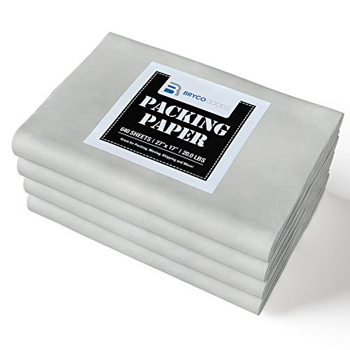 Packing Paper Sheets for Moving - 20lb - 640 Sheets of Newsprint Paper - Must Have in Your Moving Supplies - 27
