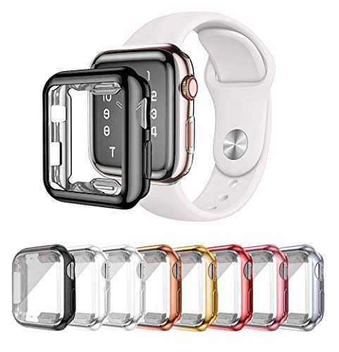 LOBKIN 8 Pack Apple Watch Series 2 Series 3 case with...