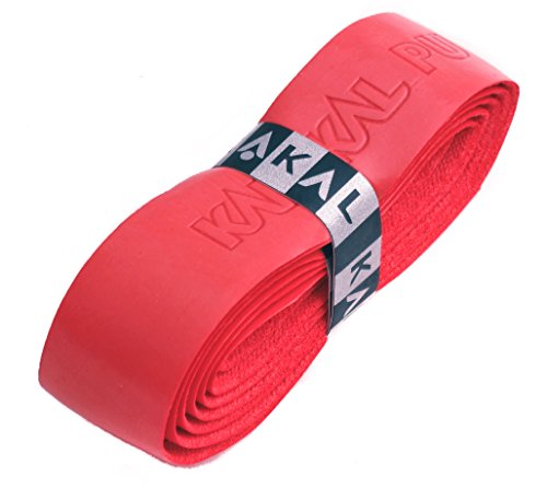 Karakal, Griffband / Griff-Tape, selbstklebend, für Badminton / Squash / Tennis / Hockey / Curling, Polyurethan, ausgezeichnete Griffigkeit, Schläger-Griff, rot, 2 Grips