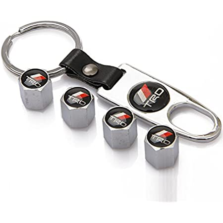 ZKHXFS zinc Alloy tire Valve Cap Keychain Apply to for TRD
